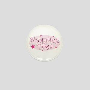 """Shopping Diva"" [pink] Mini Button"